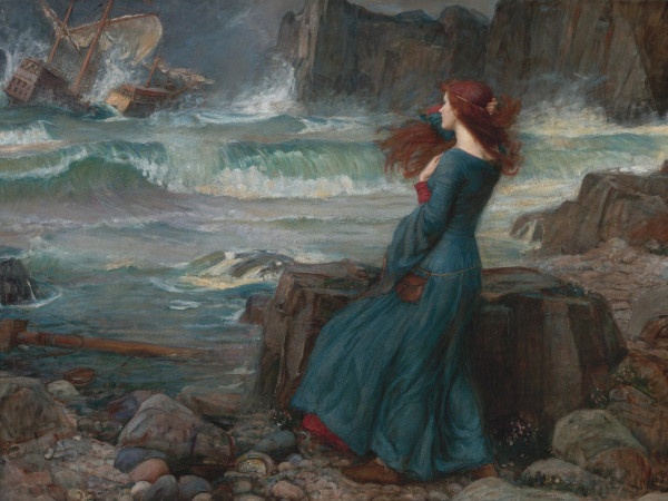 Miranda - The tempest *oil on canvas *100.4 x 137.8 cm *signed b.r.: J.W. Waterhouse / 1916